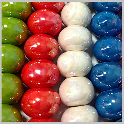 Κεραμικά Στοιχεία - Χάντρες(Επισμαλτωμένα Μονόχρωμα-0220)