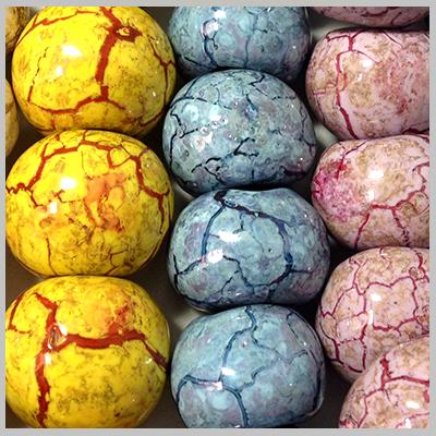 Κεραμικά Στοιχεία - Χάντρες(Επισμαλτωμένα Μαρμαριζέ-0235)