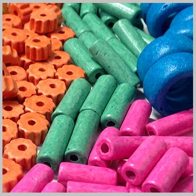 Κεραμικά Στοιχεία - Χάντρες Κεραχρώμ (0201)