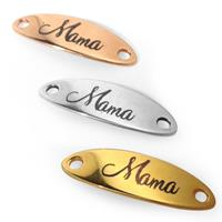 "Z/A BAR 36x12MM ""Mama"" GOLD"