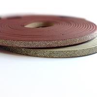 Cordón Sintético PU Plano con Gliter 5mm (~1,2mtr/tira)