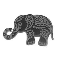 PLEXI ACR.ELEPHANT 60*37/3MM 1H:2,6MM GREY