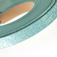 Cordón Sintético PU Plano con Gliter 10mm (~1,2mtr/tira)